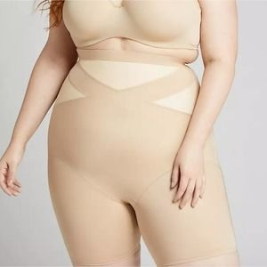 Cacique Beige High Rise thigh Shaper NWOT 18/20